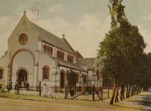 Old postcard of the church
