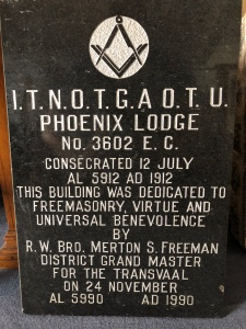 Phoenix lodge foundation stone