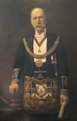 George Richards 1st districtgrand master of TVL 1895-1905