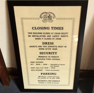 Closing times