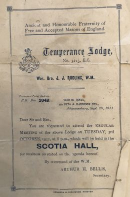 Temperance Lodge meeting