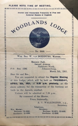 Woodlands Lodge pamphlet
