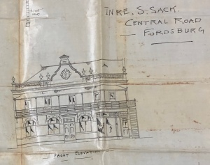 Fordsburg Sacks Hotel 1895 Main elevation