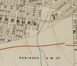 Fordsburg spruit 1897 map