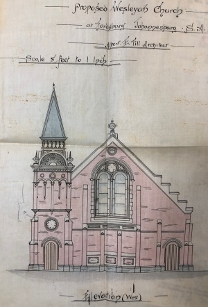 Wesleyan Church Fordsburg plan 1894