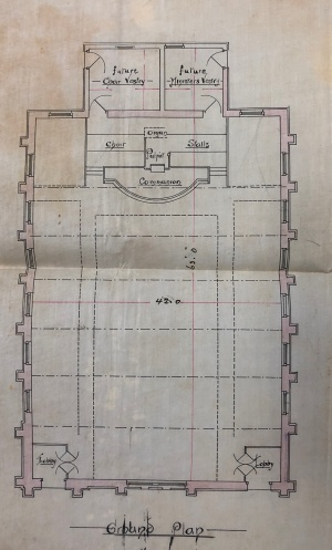 Wesleyan Church Forsdburg plan 1894