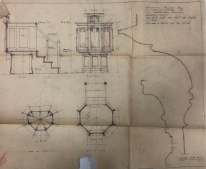 Drawings for the pulpit of the Wesleyan Church Ferreirastown