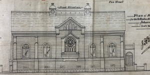Fox Street Synagogue front elevation